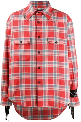 COOL T.M Tasselled Check Button-Up Shirt