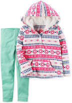 Carter's 2-Pc. Fair Isle Fleece Hoodie & Leggings Set, Baby Girls