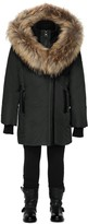 Mackage Leelee Black Winter Down Coat With Fur Hood (8-14 Yrs)
