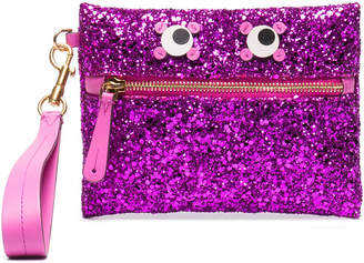Anya Hindmarch Purple glitter Circulus Eyes Zip Pouch