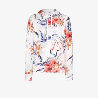 Les Rêveries Tropical Print Cotton Hoodie