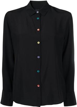 Paul Smith Contrasting Button Silk Shirt