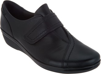 Clarks Collection Leather Monk Strap Shoes - Everlay Dixie