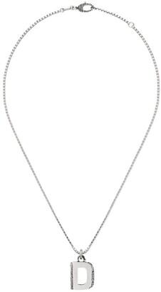 Gucci D letter necklace