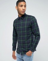 Jack Wills Shirt In Regular Fit In Flannel Check Blackwatch Tartan