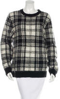 Sandro Knit Plaid Sweater
