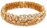 LC Collection Diamond cluster 18k gold bracelet