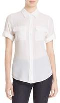 Equipment Women's Slim Signature Short Sleeve Silk Shirt