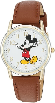 Disney Women's Mickey Mouse Analog-Quartz Watch with Leather-Synthetic Strap