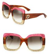 Gucci 55MM Oversized Square Colorblock Sunglasses