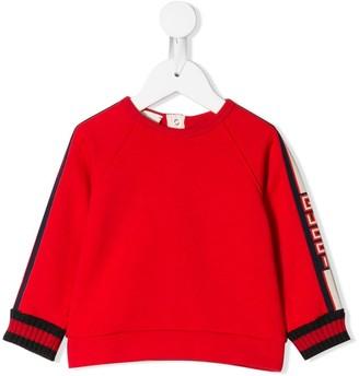 Gucci Kids Logo Sleeve Sweater