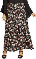 City Chic Free Spirit Floral Maxi Skirt