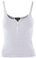 Topshop Stripe button front vest top