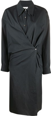 Lemaire Side-Wrap Shirt Dress