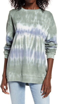 Treasure & Bond Tie Dye Cotton Blend Sweatshirt