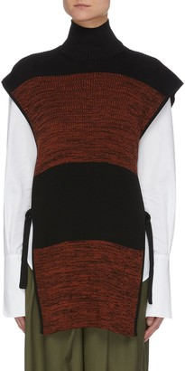 Petar Petrov 'Nais' colourblock panel sleeveless turtleneck knit top