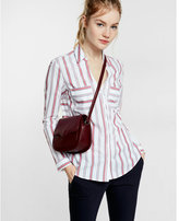 Express striped fine tailored poplin shirt