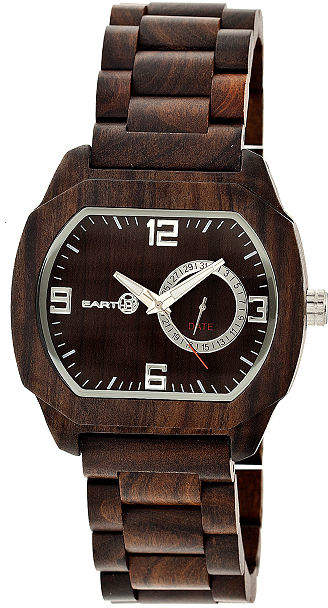 Earth Wood Scaly Dark Brown Bracelet Watch with Date ETHEW2102