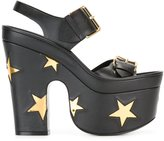 Stella McCartney star buckled platform sandals - women - Artificial Leather - 39