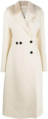 Jil Sander Double-Breasted Long Wool Coat