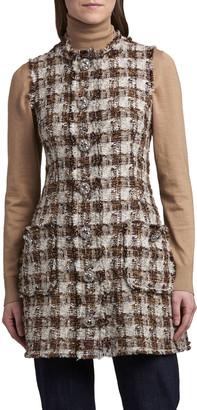 Dolce & Gabbana Check Metallic Tweed Vest