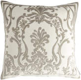 Lili Alessandra Louie Ivory Basketweave Pillow