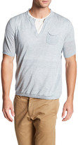 Autumn Cashmere V-Neck Tee with Chest Pocket