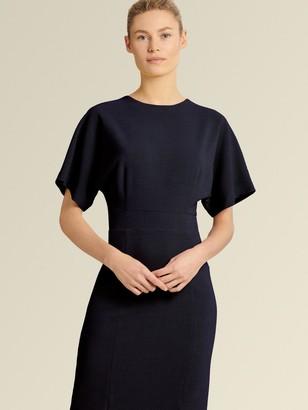 DKNY Donna Karan Women's Sheath Dress With Slit - Midnight - Size 2