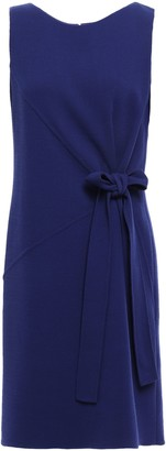 Oscar de la Renta Bow-detailed Wool-blend Crepe Dress