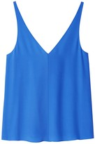 Tibi x Hampden Silk V-Neck Cami in Acadia Blue