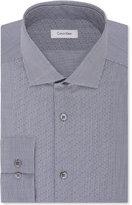 Calvin Klein Men's STEEL Slim-Fit Non-Iron Check Dress Shirt