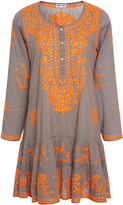 Juliet Dunn Embroidered Cotton Dress