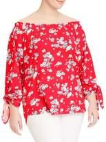 Lauren Ralph Lauren Plus Off-The-Shoulder Cotton Jersey Top