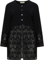 Isolde Roth Plus Size Piping detail lace-bottom cardigan