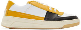 Acne Studios Yellow and White Perey Lace Up Mix Sneakers