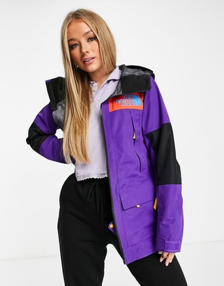 The North Face Team Kit ski jacket in purple
