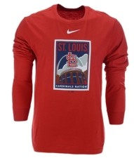 Nike Men's St. Louis Cardinals Iconography Long-Sleeve T-Shirt
