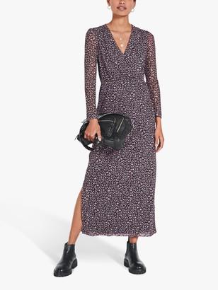 Hush Tuva Leopard Spot Mesh Dress, Grey/Pink