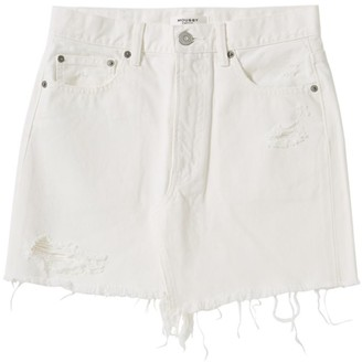 Moussy MV Ripliy Frayed Hem Denim Mini Skirt