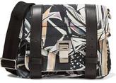 Proenza Schouler Ps1 Leather-Trimmed Printed Twill Shoulder Bag