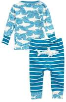Hatley Shark Alley Organic Cotton Fitted Two-Piece Pajamas