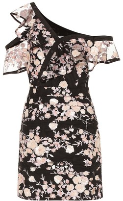 Self-Portrait Floral-embellished minidress