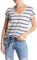 Chaser Tie Front Striped Tee