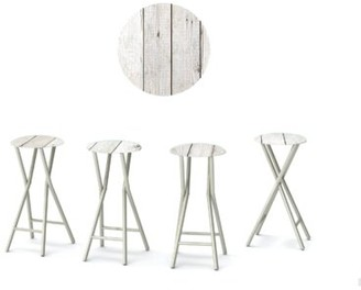 Alvy 30'' Patio Bar Stool with Cushion Gracie Oaks