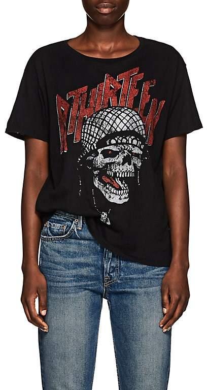 R 13 Women's Logo & Skull Cotton-Cashmere T-Shirt