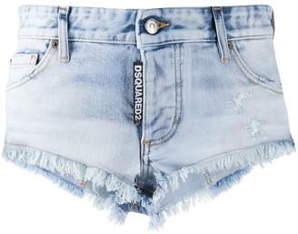 DSQUARED2 Logo Tag Denim Shorts