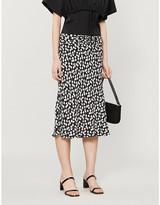 Reformation Matilda floral-print high-waisted crepe midi skirt