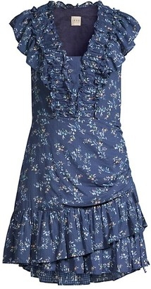 Rebecca Taylor Gaelle Ruffle Mini Dress