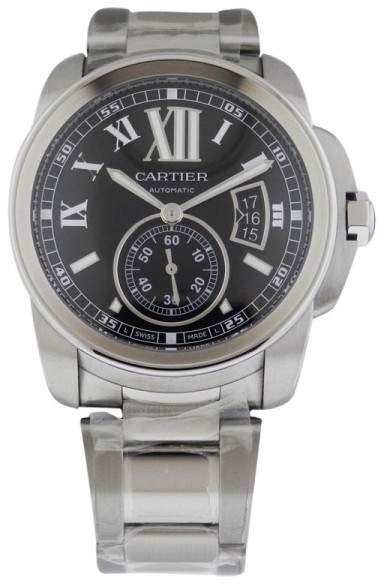 Cartier Calibre de W7100016 Automatic Steel Black Dial Watch