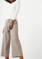 MANGO Check Cotton Trousers